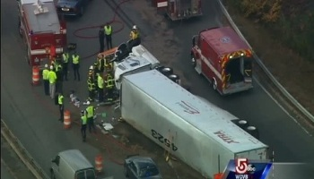 Police search for tractor-trailer driver involved in serious