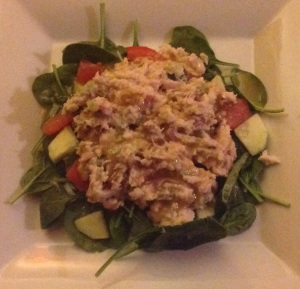 everything spinach tuna salad