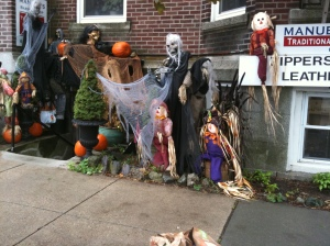 Barber Shop Halloween set up 10-5-10