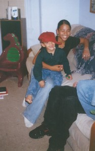 Seth in Tanisha's lap Sep 1997