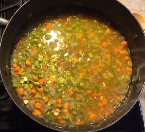 Pea Soup cooking