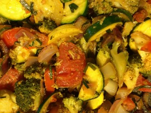 curried zuchinni squash cooked