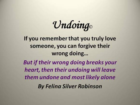 Saying of the Day-undoing